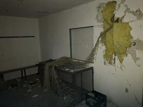 Demolirana prostorija koju koriste mlađe kategorije kluba