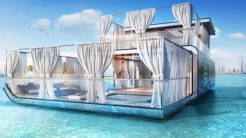Fényűző Luxus: Vízen Lebegő Nyaralókat Építenek Dubajban - Galéria