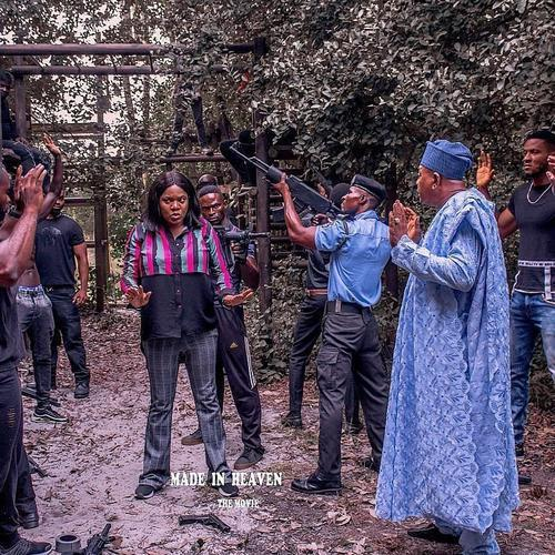 Jide Kosoko and Toyin Abraham on the set of the movie, 'Made in Heaven'. [peekaboo consult]