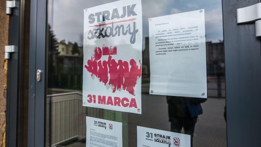 Strajk Nauczycieli. W Łodzi Protestowały Szkoły Podstawowe