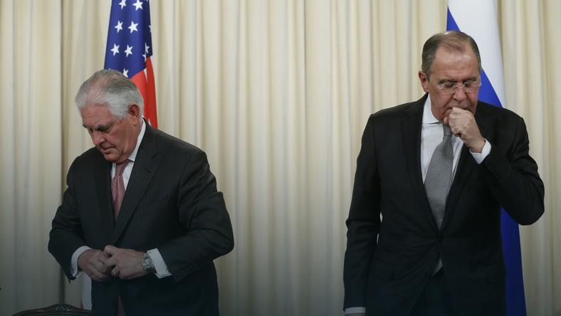 Rex Tillerson i Siergiej Ławrow wczoraj w Moskwie