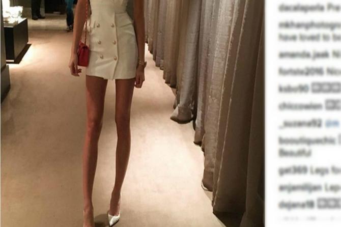Fanovi je kritikuju, ali ona ne mari: Sofija opet pokazala premršave noge
