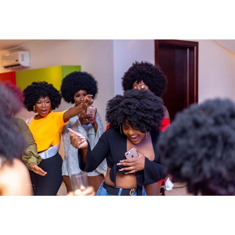 Gifty Mawunya and friends at her bachelorette party