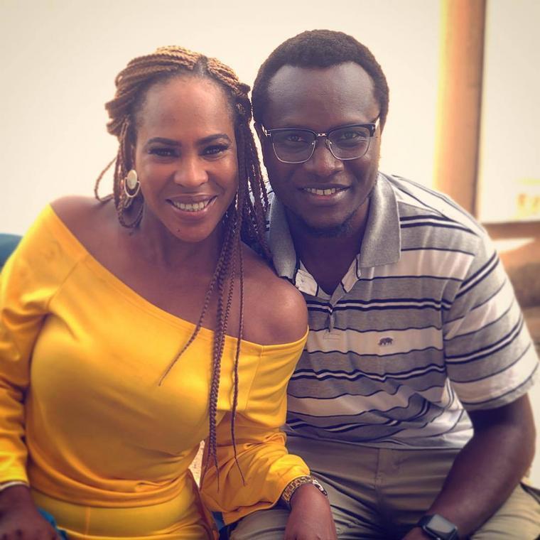 Fathia WIlliams and Charles Uwagbai on the set of 'Rubicon' [Instagram/Charles Uwagbai]
