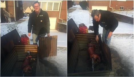 Ovako je počelo: Crkvenjak Majk sprema se za božićnu gozbu u Midlandu