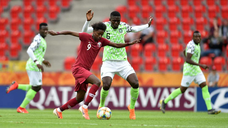 Qatar were impressive in the game but the Nigerian defence led by Valentine Ozornwafor kept them at bay  (Getty Images)
