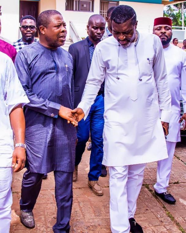 Kanayo O. Kanayo with the governor of Imo state, Rt Hon Emeka Ihedioha [Instagram/KanayoOKanayo]