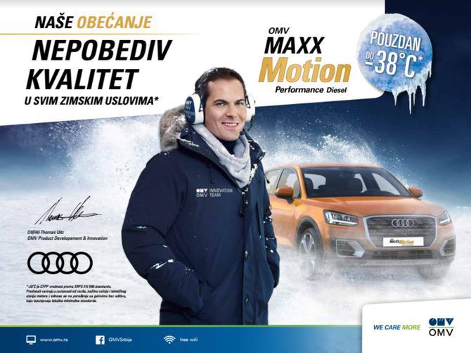 Nepobediv kvalitet zimskog OMV MaxxMotion Dizela pruža punu podršku kada temperature padnu ispod nule
