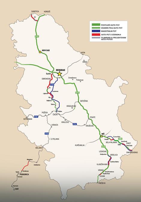 koridor 10 mapa SRB] Serbia | road infrastructure • Auto putevi / Aуто путеви  koridor 10 mapa