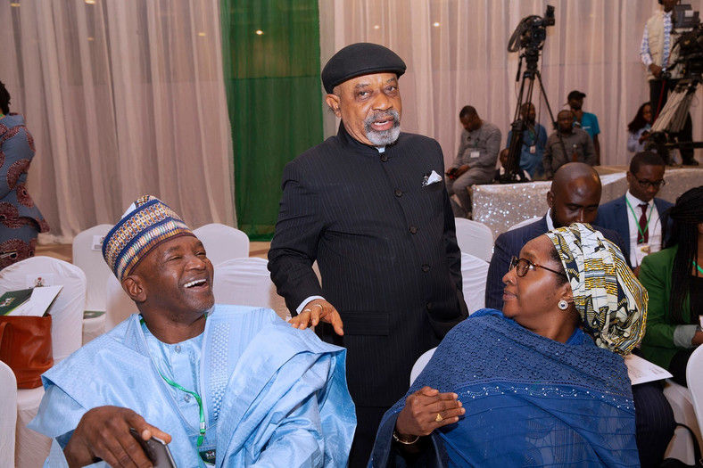 L-R: Mohammed Mahmoud, Chris Ngige, and Zainab Ahmed have been sworn in as ministers for President Muhammadu Buhari's second term [Presidency]