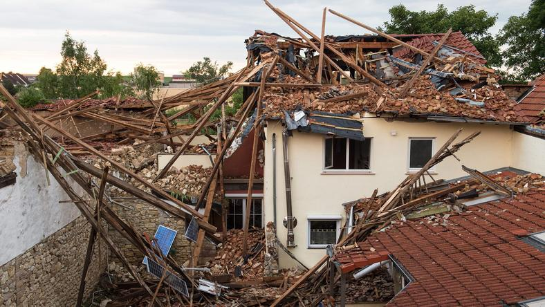 GERMANY WEATHER TORNADO (Tornado damages several houses in south-western Germany)