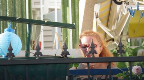 Tanja na svojoj terasi