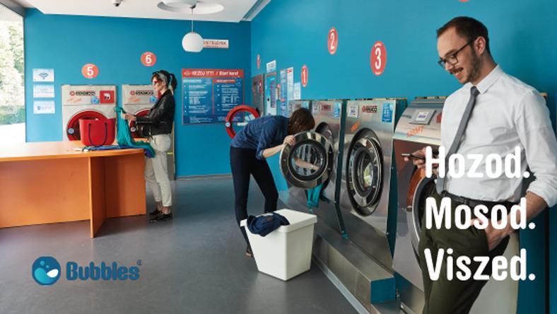 A Bubbles Magyarországon 30 non-stop nyitvatartó mosodát üzemeltet