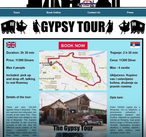 Promocija ture koja je sklonjena sa sajta