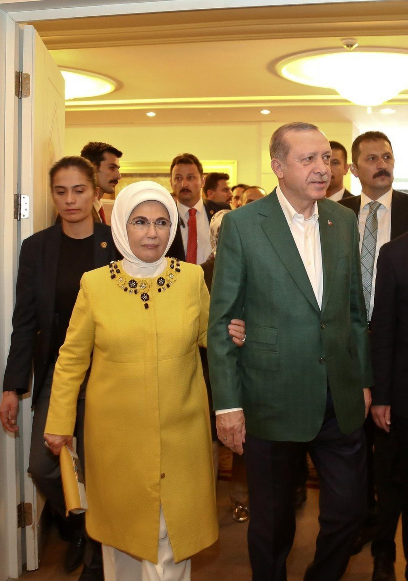 Na konferenciji Partije pravde i razvoja, stranke njenog supruga