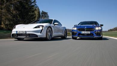 BMW M8 Competition Gran Coupe kontra Porsche Taycan Turbo S - kto ma racj??