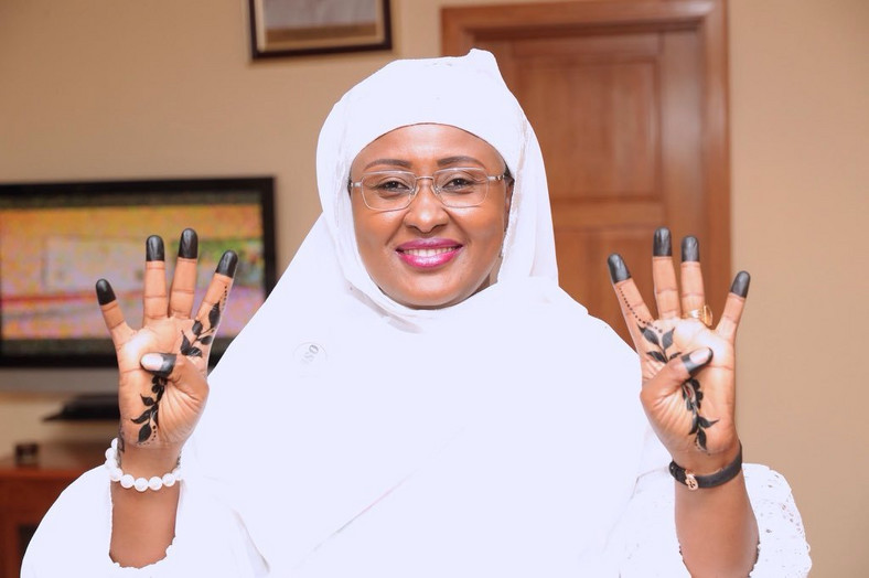 Aisha Buhari, Wife of the President, campaigned for 4 more years for him (Punch)