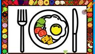 Gra: Color and Decorate Dinner Plate