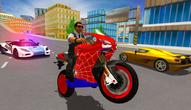 Gra: Hero Stunt Spider Bike Simulator 3D 2