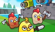 Gra: Merge Cannon: Chicken Defense