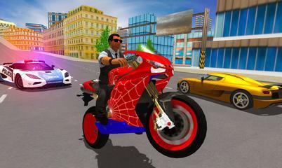 Gra: Hero Stunt Spider Bike Simulator 3D 2