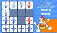 Spiel: Animal Discovery Fraction Addition
