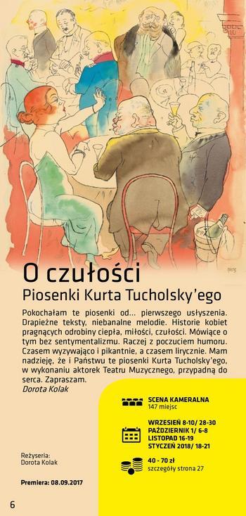 O czułości - Piosenki Kurta Tucholsky'ego - Premiera