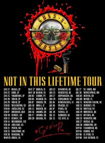 "Trasa koncertowa ""Not In This Lifetime Tour"""