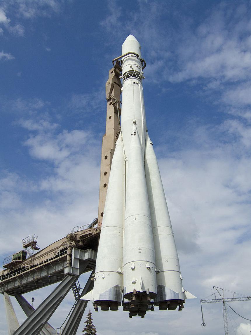 Kopia rakiety Wostok, która wyniosła Gagarina w kosmos