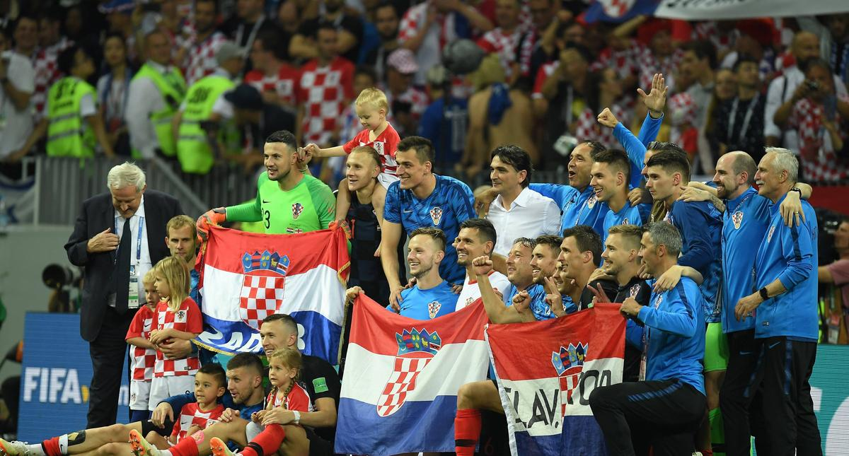 2018 FIFA World Cup Russia Semi Final match between England and Croatia - LH