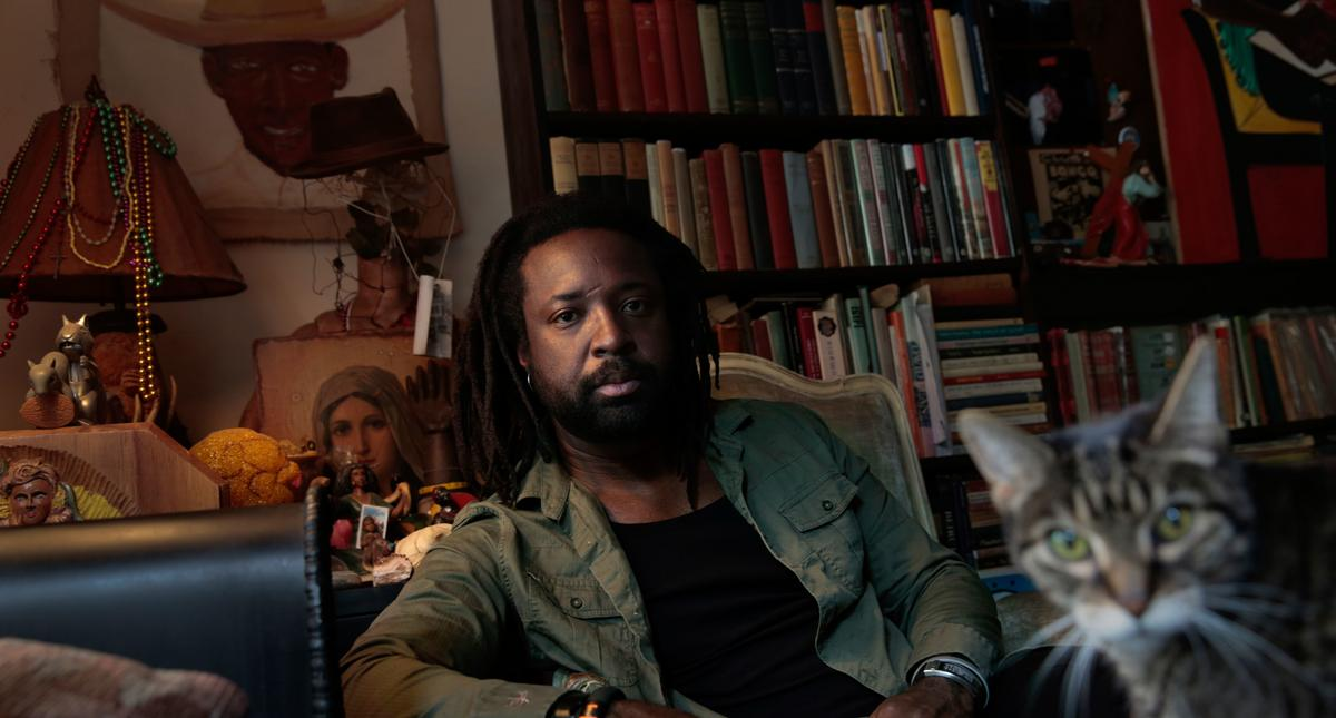"""HARLEM, NEW YORK--SEPT. 20, 2014--Author Marlon James, author of the new novel """"A Brief History of S"""