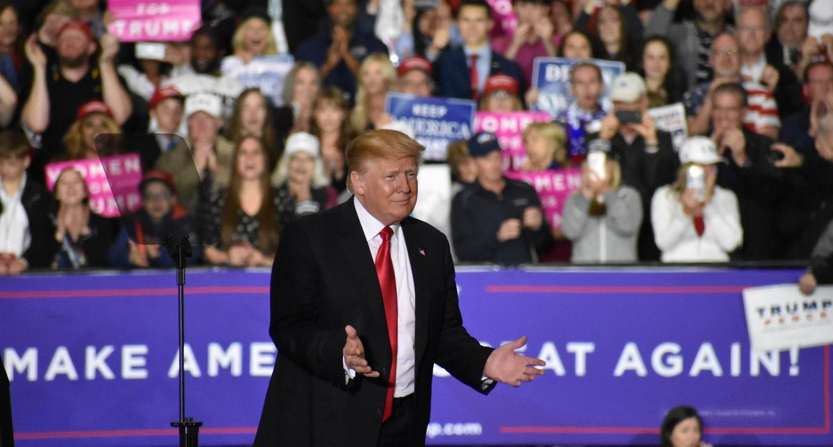 President Donald J. Trump in Washington, MI