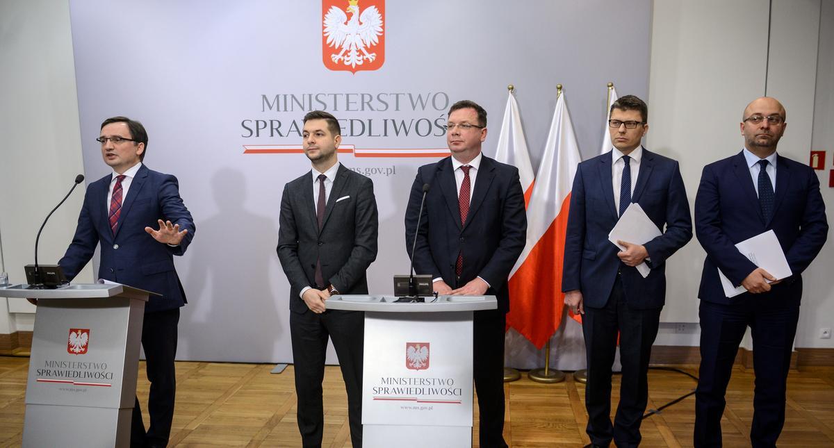 Zbigniew Ziobro, Patryk Jaki, Michał Wójcik, Marcin Warchoł, Łukasz Piebiak
