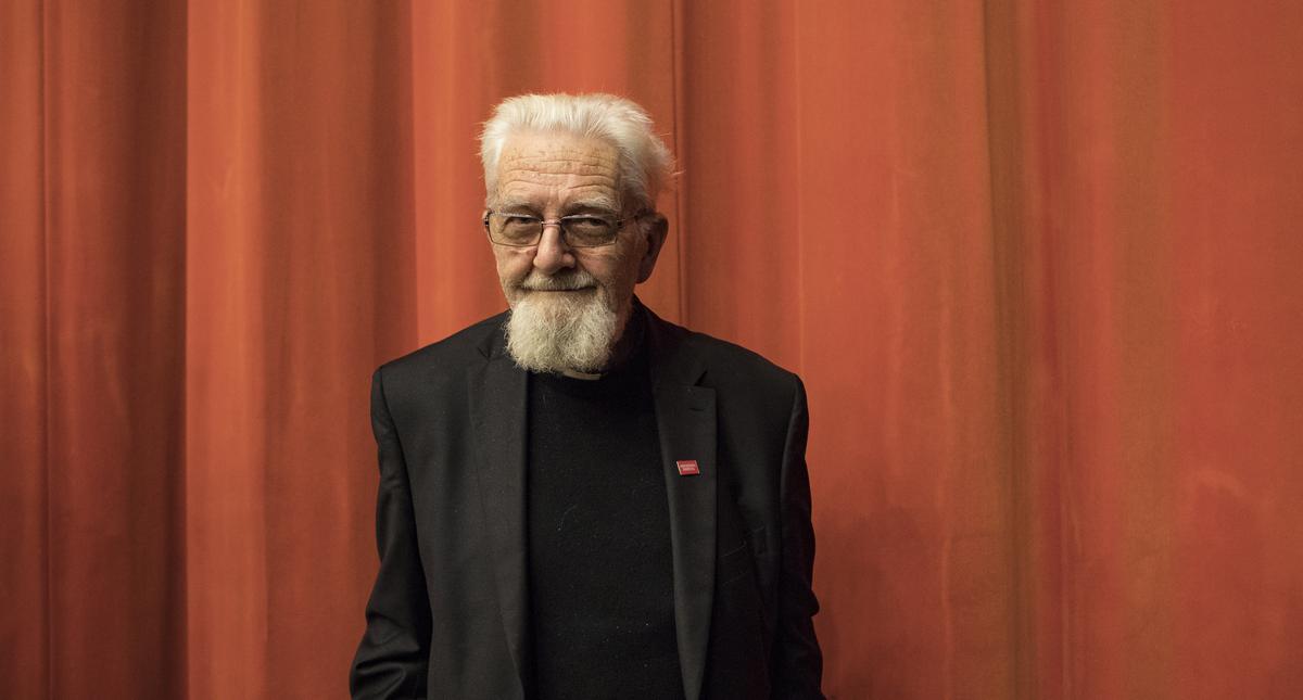 Spotkanie z ksiedzem Adamem Bonieckim w Muzeum Historii Zydow Polskich POLIN