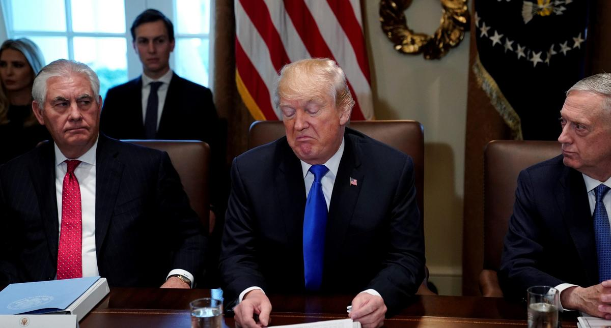 U.S. President Donald Trump holds a cabinet meeting at the White House in Washington