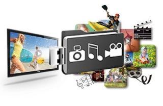 Odtwarzaj zdjęcia, filmy i muzykę bezpośrednio przez złacze USB