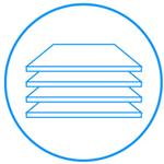 Wytrzymałe półki. Szkło hartowaneW lodówce zastosowano półki z hartowanego szkła. Dzięki tak zabezpieczonej powierzchni, półki są wytrzymałe na duże obciążenia, odporne na zarysowania i bardzo łatwo jest je wyczyścić. W razie potrzeby i dla większej wygody półki można wyjąć i szybko umyć pod bieżącą wodą
