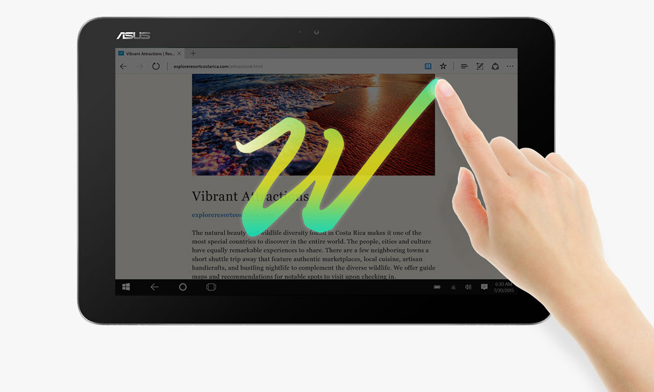 ASUS Transformer Mini T102HA quick launch