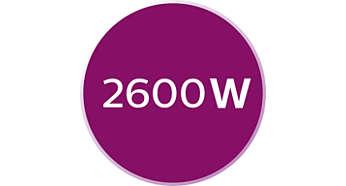 Moc 2600 W -- szybkie nagrzewanie żelazka