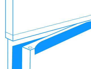 Podchwyty   Wygodne otwieranie Otwieranie drzwi za pomocą podchwytów (delikatnych wgłębień w obrysie drzwi) jest ładne i praktyczne, a powierzchnia drzwi dłużej pozostaje czysta.