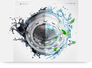 Ekoczyszczenie bębna   Ochrona bębna i środowiska naturalnego  Funkcja ekoczyszczenia umożliwia zachowanie czystości i higieny bębna, membrany i szyby drzwi poprzez użycie gorącej wody i szybkie wirowanie. Funkcja jest przydatna np. jeśli pranie w pralce leżało zbyt długo.