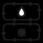 Twin Cooling Plus(TM)Dwa niezależnie od siebie pracujące obiegi chłodzenia w chłodziarce i zamrażalniku, utrzymują optymalną wilgotność i zapobiegają mieszaniu się zapachów.