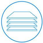 Wytrzymałe półki. Szkło hartowane W lodówce zastosowano półki z hartowanego szkła. Dzięki tak zabezpieczonej powierzchni, półki są wytrzymałe na duże obciążenia, odporne na zarysowania i bardzo łatwo jest je wyczyścić. W razie potrzeby i dla większej wygody półki można wyjąć i szybko umyć pod bieżącą wodą