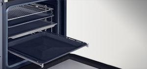 Dobra organizacja wnętrza  Możesz łatwo dostosować wnętrze do potrzeb gotowania ze względu np. na wysokość naczyń i zmieniać ustawienia tak, aby pomieścić nawet bardzo wysoką brytfannę.