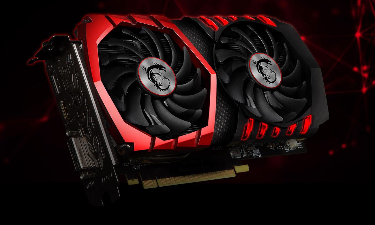 GeForce GTX 1050 TI GAMING X Wygląd