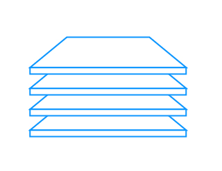 Szkło hartowane   Wytrzymałe półkiW lodówce zamontowano 4 łatwo wyjmowane półki z hartowanego szkła. Są one wytrzymałe na obciążenia, nie ulegają porysowaniu i łatwo poddają się czyszczeniu. Przeźroczyste półki umożliwiają swobodne przenikanie światła, co oznacza lepiej widoczne wnętrze.