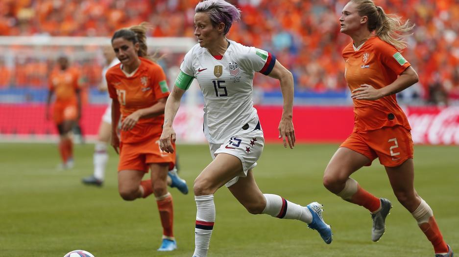Megan Rapinoe w meczu z Holandią