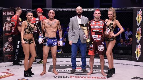 Renato Pezinho (z lewej), Łukasz Widuliński i Grzegorz Szulakowski (fot. KSW)