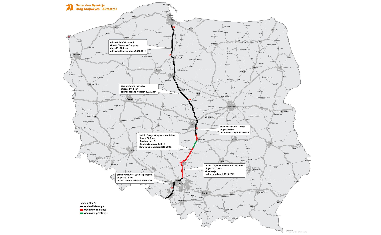 Autostrada A1 Z Gdanska Do Granicy Z Czechami Pojedziesz W