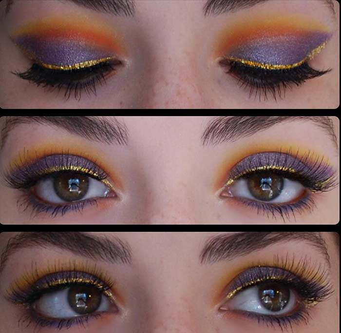 Beauty Tips How To Make Tropical Sunset Inspired Eye Makeup Pulse